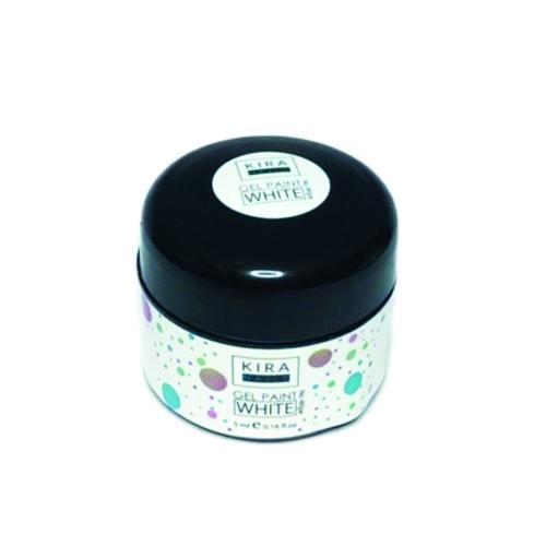 Гель-краска Kira Nails No Wipe, White, 5 мл