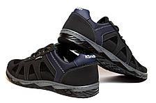Кросівки чоловічі чорні в сіточку на літо, фото 3