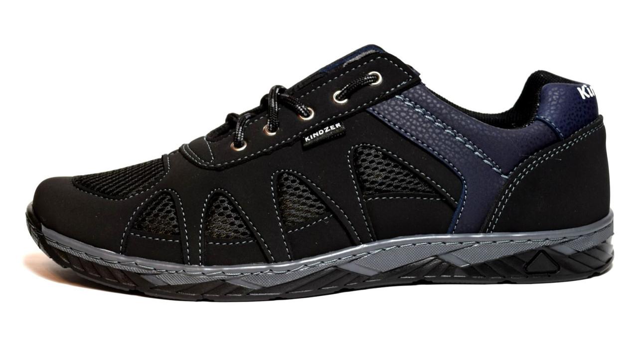 Кросівки чоловічі чорні в сіточку на літо