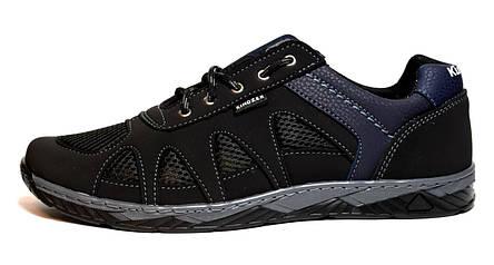 Кросівки чоловічі чорні в сіточку на літо, фото 2