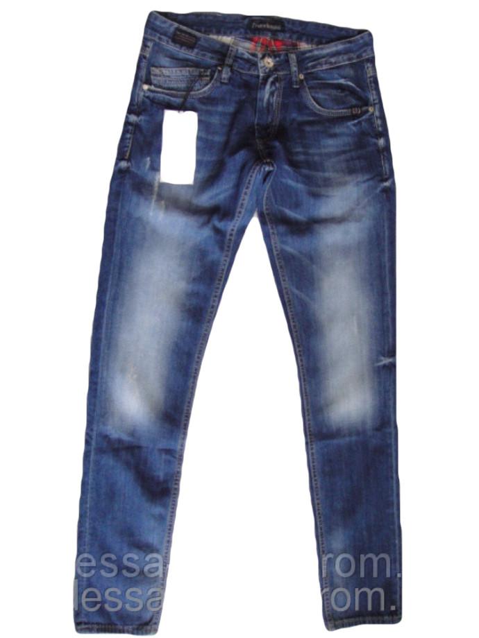 Узкие джинсы мужские  FB 13-051 Blue 3052