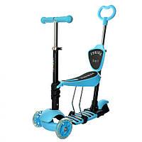 Спортивный самокат для ребёнка JR 3-026-K (Синий)