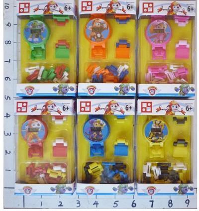 Конструктор-годинник,6 видів,в кор-ці,7х3х12см №863004(1518429)(200)(600)КІ