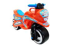"Машина каталка - толокар ""Мотоцикл"" муз.помаранчева №11-006 /Кіндер-Вей/"