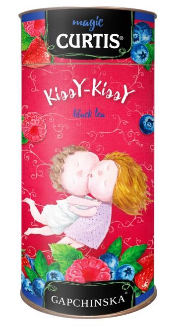 Чай Кертіс чорний листовий Kissy-Kissy з ягодами чорниці, малини, полуниці 80 грам