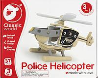 Іграшка дерев'яна  конструктор  Вертоліт №3802 Classic World