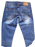Узкие джинсы мужские  FB 13-051 Blue 3052, фото 3