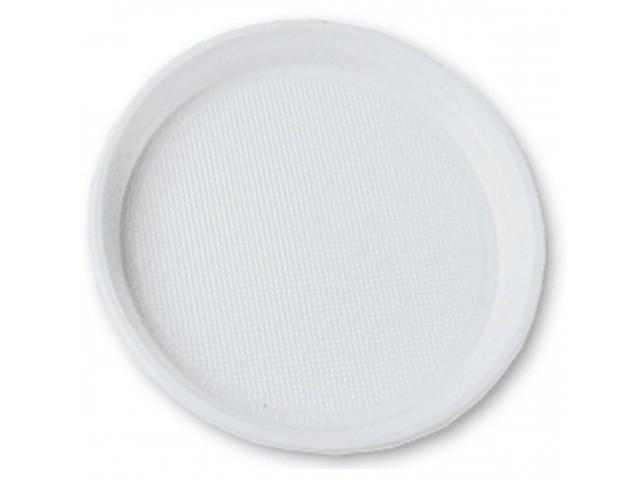 Тарілка пласт. d20,5см біла №1080110/Buroclean/(100)
