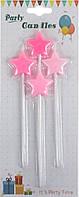 """Свічка в торт """"Зірка"""" (4шт) рожева №G333/1642(24)"""