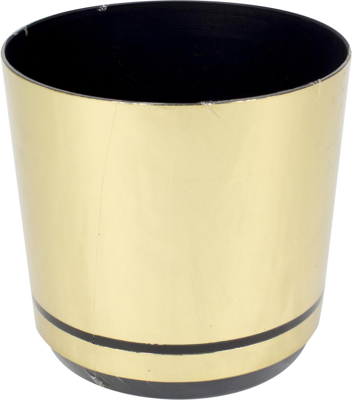 Горщик квітковий пластиковий d160мм-14,v-2,5л золото(10)