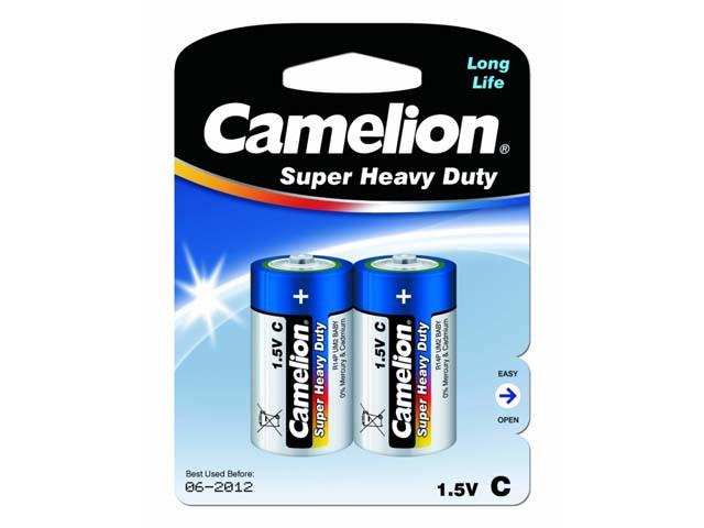Батарейки Camelion blue R-14/блістер 2шт (6)(144)