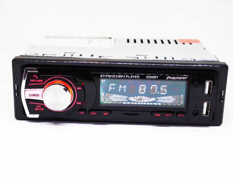 Автомагнитола 1DIN MP3-6298BT Bluetooth+2xUSB+SD+AUX 4x50W