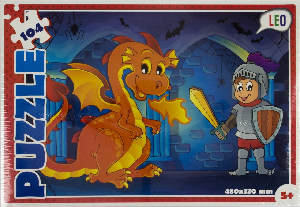 "Пазли Лео 104ел. Лицар та дракон,32х22х4см №200-8(1)(12) ""Strateg"""
