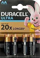 Батарейки Duracell індикатор заряду Ultra Power LR-06/блістер 4шт (20)