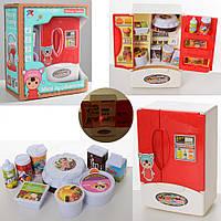 Детский игровой набор, холодильник, продукты, кухня Мебель 8210