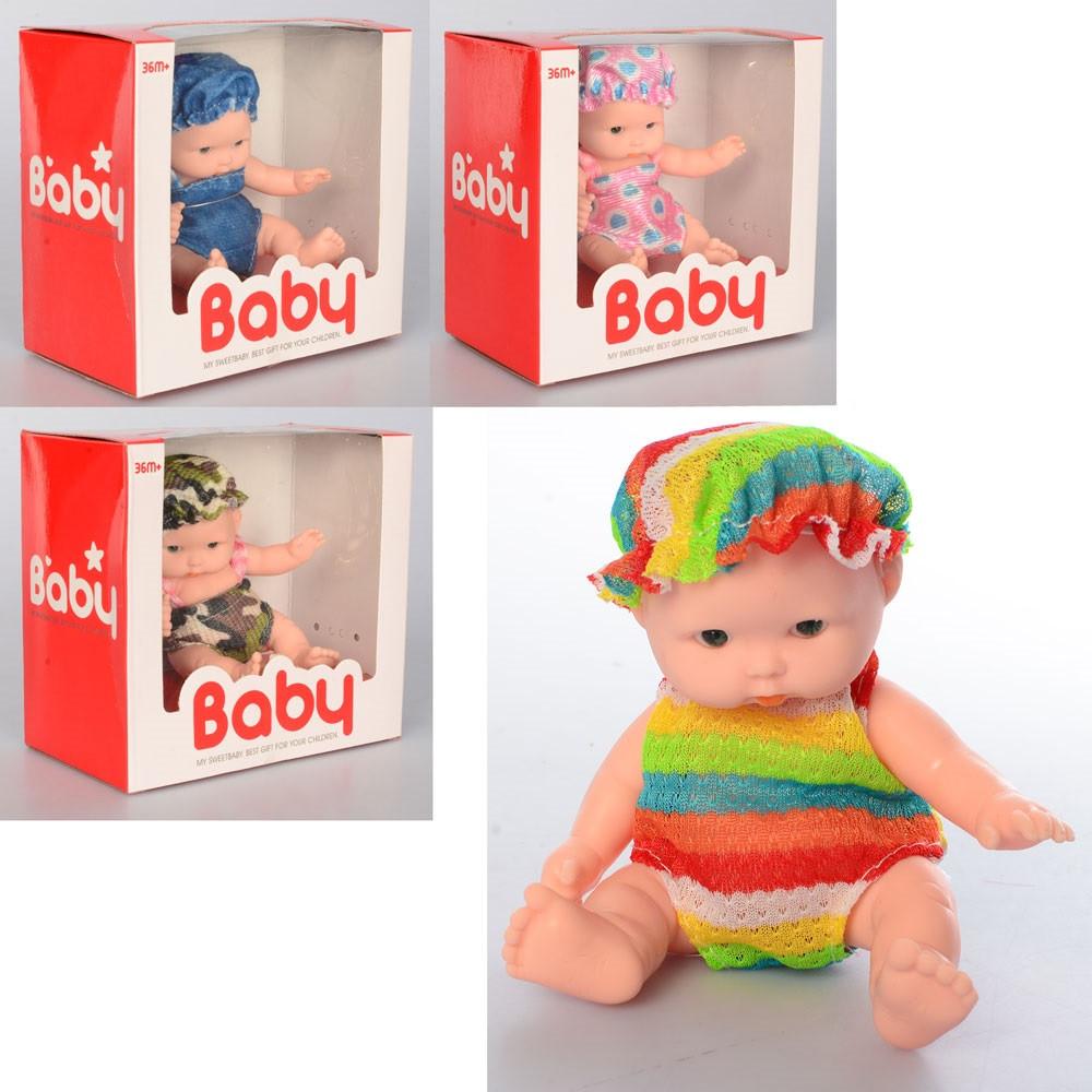 Лялька-пупс 11см,в кор-ці,12,5х11,5х7см,4 віді №W669-B3-B5-B6-B8(144)