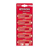 Батарейки Etron Mega Power LR-03/блістер 5шт (12)(120)