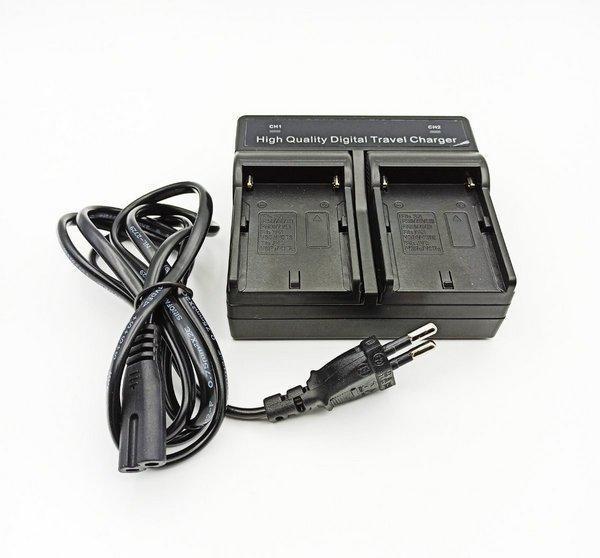 Зарядний пристрій Visico Double для двох Sony NP-F550, NP-F750, NP-F950