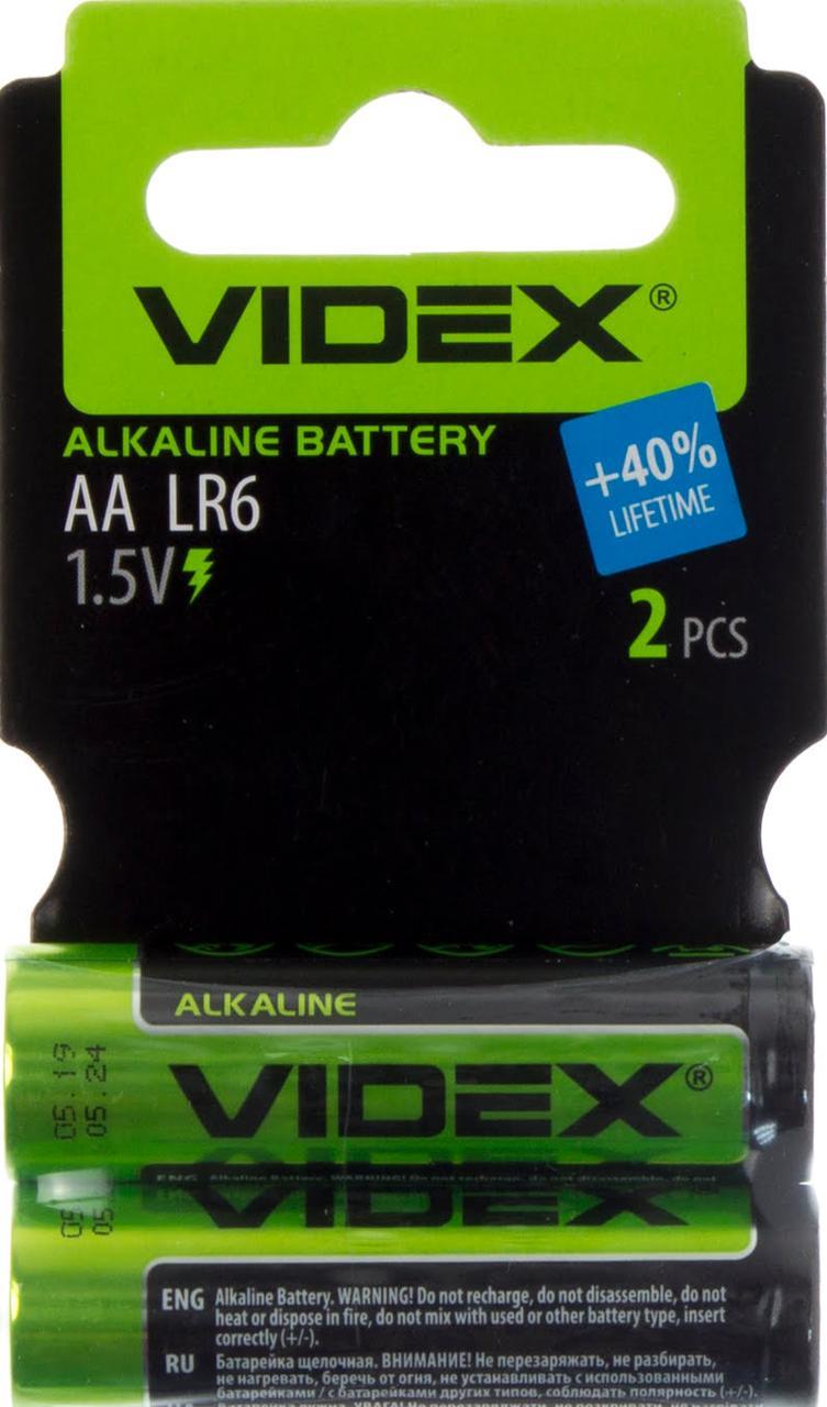 Батарейки Videx LR-06/мініблістер 2шт (30)(360)