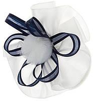 Резинка-бантик синьо-біла №R-5-37(12)