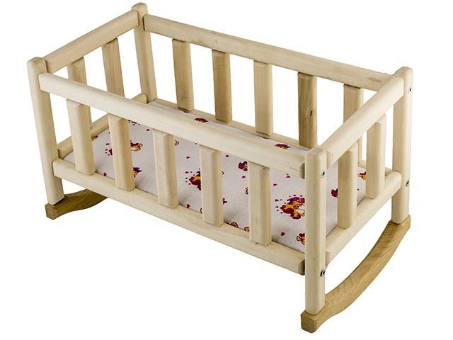Ліжко для ляльок дерев. 20х40см