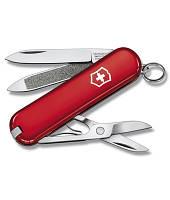 Нож Victorinox Викторинокс Classic Red 58 мм 7 предметов красный