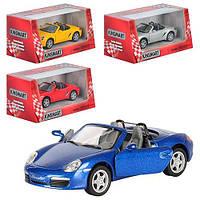 "Машина метал. ""Kinsmart"" Porsche Boxster S,в кор-ці,16х8,5х7,5см №KT-5302-W(24)(96)"