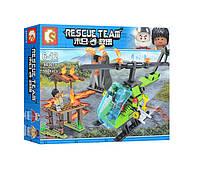 Конструктор 603019, пожарная серия, вертолет, аналог конструктора лего, конструкторы для мальчиков.