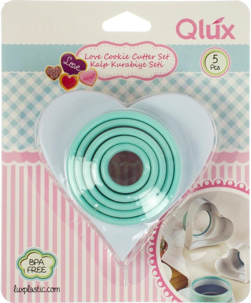 """Набір форм для випічки (3шт) """"Heart"""" пласт. №15395/L539/Qlux/(28)"""