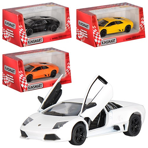 """Машина мет.""""Kinsmart""""Lamborghini Murcielago LP640,в кор-ці,16х8,5х7,5см №KT-5317-W(24)(96)"""