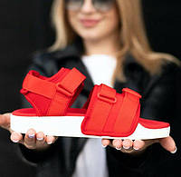 Adidas Adilette Sandal Red White | сандалии / босоножки женские; красные; летние; адидас