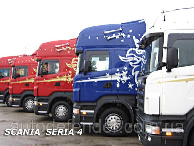 Дефлекторы окон (вставные!) ветровики Scania R Seria, HEKO, 28703