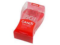 Навушники вставні Remax Candy 301 (гарнітура) red+мікрофон