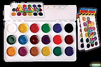 Акварельные краски ЛЮКС КОЛОР (18 цветов) для детского творчества, в пластике
