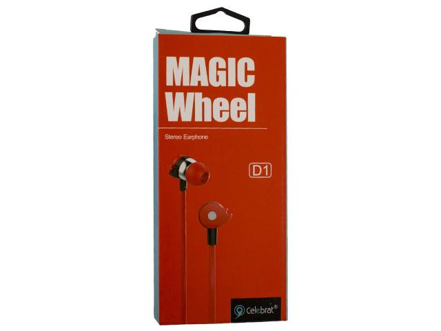 Навушники вакуумні Celebrat D1 (гарнітура) red+мікрофон