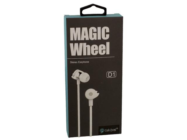 Навушники вакуумні Celebrat D1 (гарнітура) white+mic