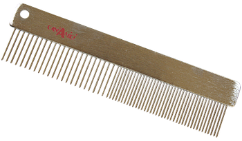 Расческа прямая, без ручки, металл, 4х15,7 см