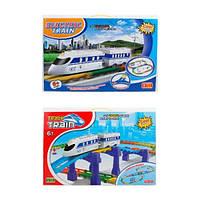 Залізниця на бат-ці,локомотив 10см,вагон,світ,на бат-ці,в кор-ці,52,5х34х5см №8110-8120-A