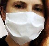 Бавовняна захисна маска для обличчя багаторазова ( тканина -бязь) від 100 шт