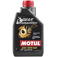 Масло трансмиссионное 100% cинтетическое эстеровое MOTUL Gear Competition SAE 75W140 1л. 105779/823501