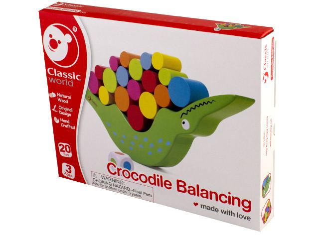 Іграшка дерев'яна яна балансир Крокодил №3523