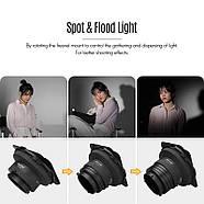 Линза Френеля со шторками и сотой NiceFoto FD-110 для моноблоков постоянного света, Bowens , фото 5