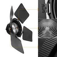 Линза Френеля со шторками и сотой NiceFoto FD-110 для моноблоков постоянного света, Bowens , фото 7