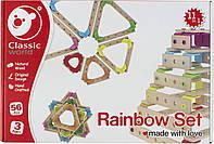 Іграшка дерев'яна  конструктор  Планки, 56 деталей №3914 Classic World