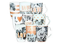 """Чашка керам. 340мл """"Love"""" мікс №040-01-72/S&T/(9)(36)"""