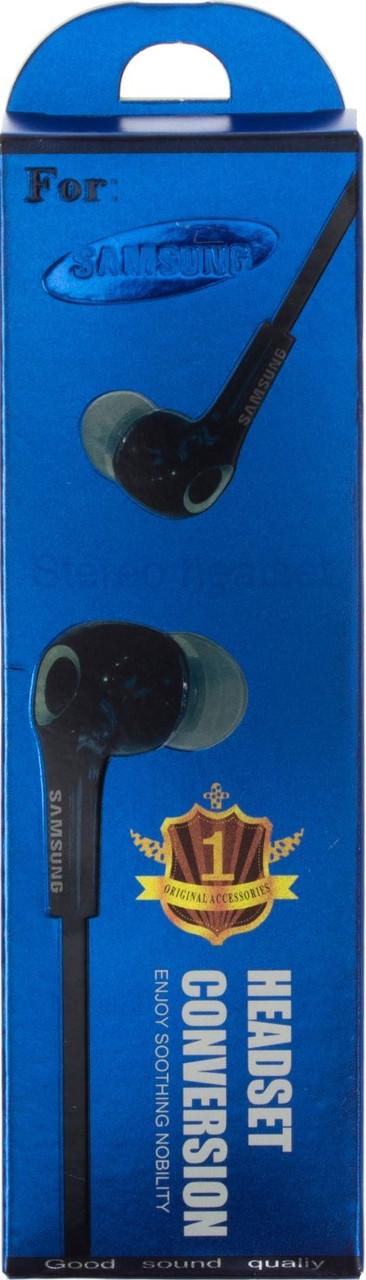 Навушники вакуумні Samsung Original New (гарнітура) black+мікрофон