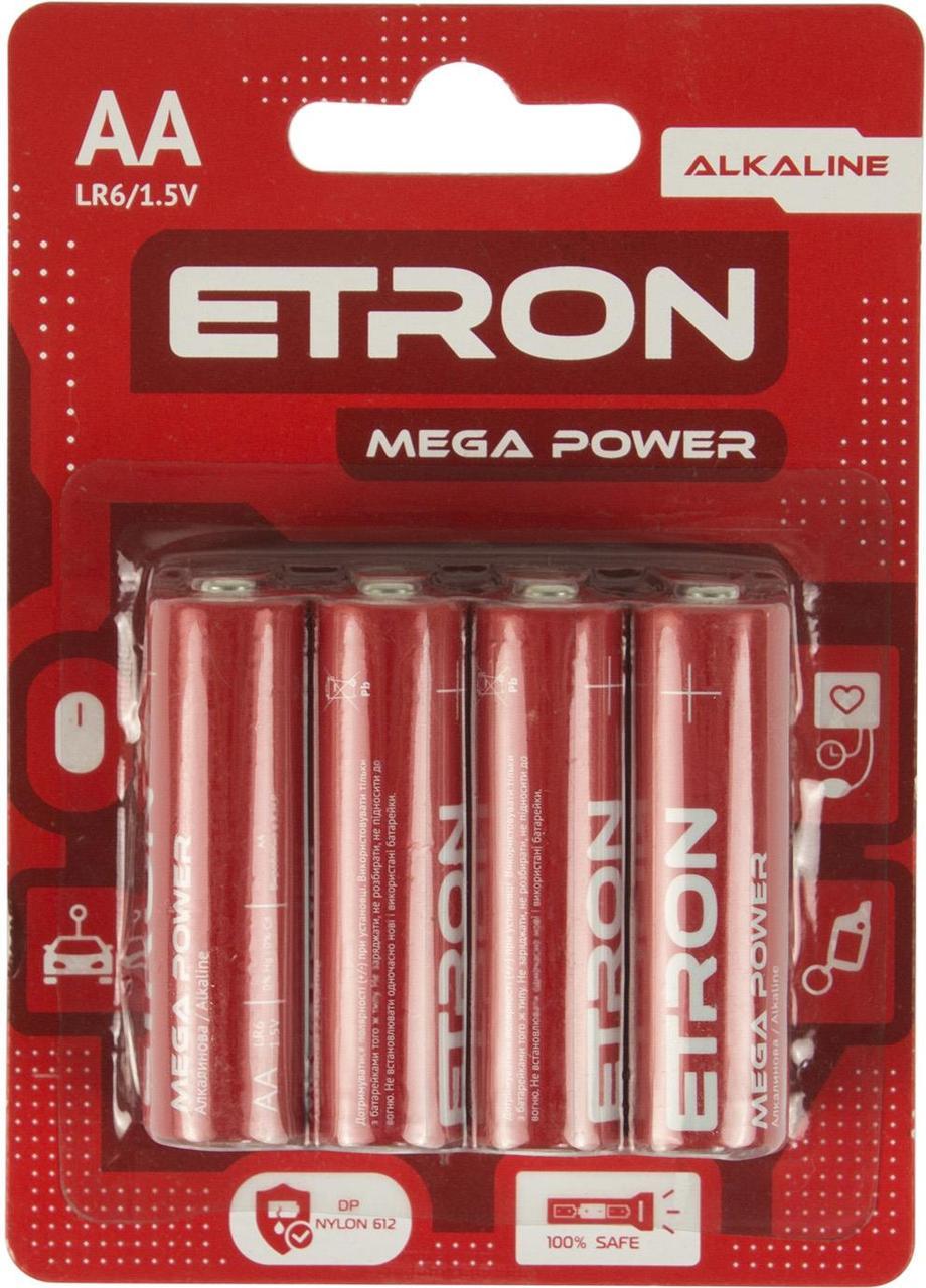 Батарейки Etron Mega Power LR-06/блістер 8шт (12)(72)