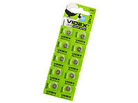 Батарейка Videx AG2/10bl(LR726)(2)(10)(100)