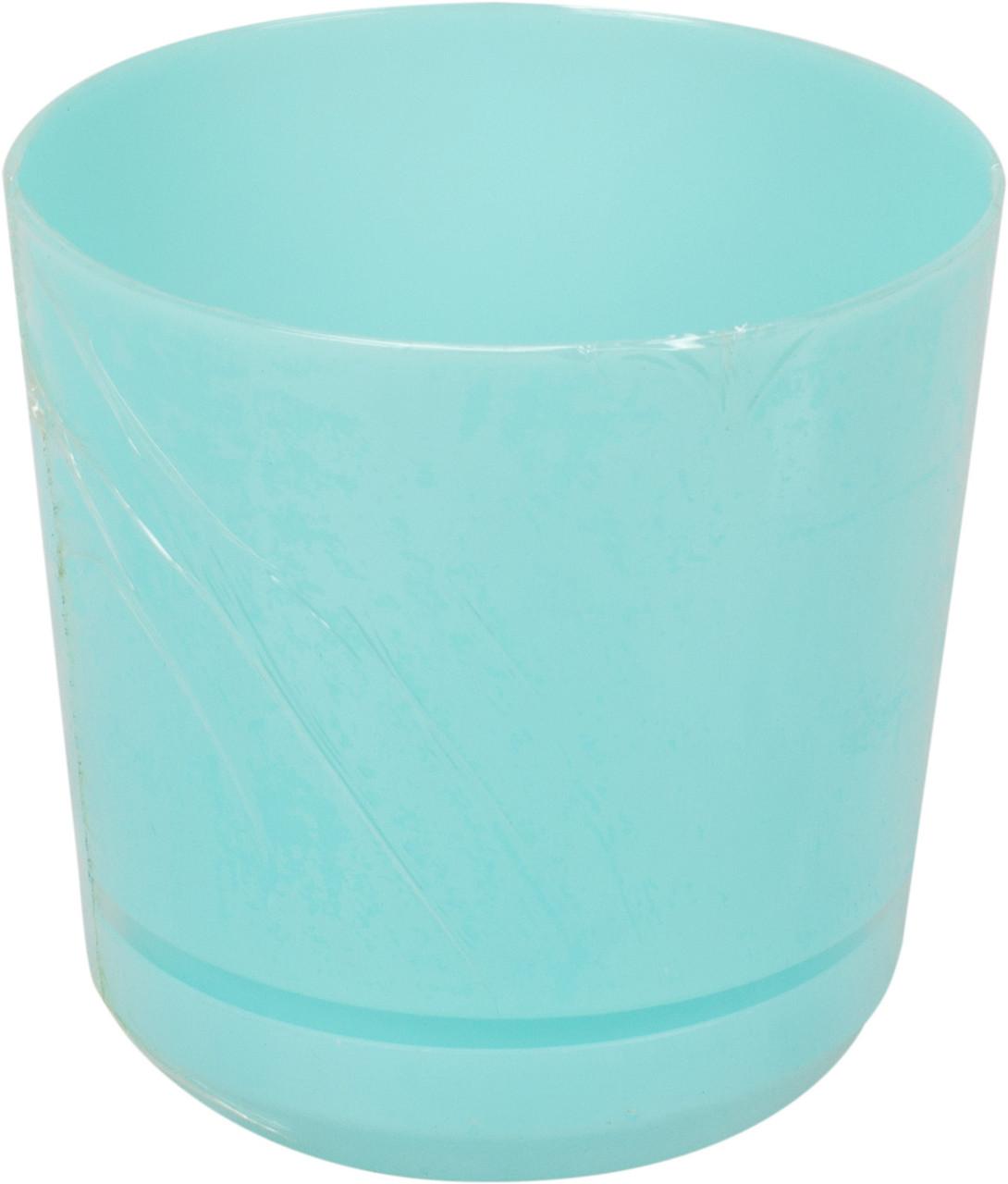Горщик квітковий пластиковий d125мм-104,v-1,4л бірюзовий(10)
