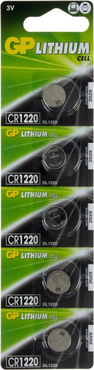Батарейка GP Lithium Button Cell CR1220-7U5 3V/5bl(5)(100)